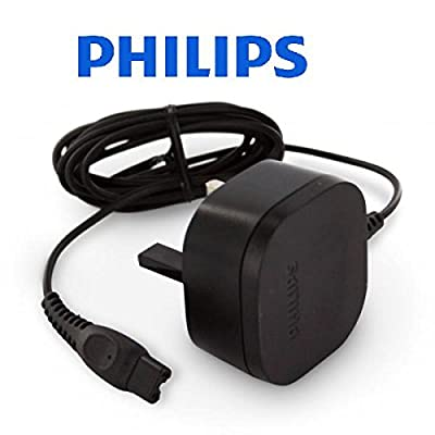 Philips men's shaver replacement power charger 3 PIN UK Original from PHILIPS