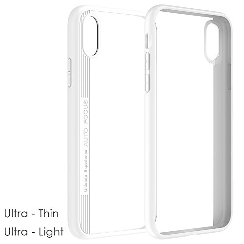 iPhone X Handycover, MOONMINI für iPhone X Eagle-eye 2 in 1 Dual Layer Hybrid Hülle Transparent Soft TPU Silicone Hart PC Stoßfest Tasche Case Back Schutzhülle Schwarz Weiß