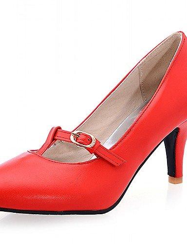 Moda Donna Sandali Sexy donna tacchi Primavera / Estate / Autunno / Inverno tacchi / pompa di base / Comfort /ToeSyntheticMaterialsUpperOccasion Red