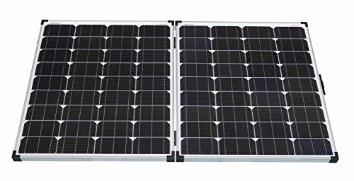 Placa solar plegable de enjoysolar con regulador de carga integrado de 10 A, modelo LS1024, de EP Solar. Tres modelos: 60, 100 y 150 W, para colocarla en el suelo. Incluye  bolsa de transporte, cable y regulador de carga.