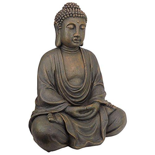 Design Toscano Meditierender Buddha des großen Tempels Mittel