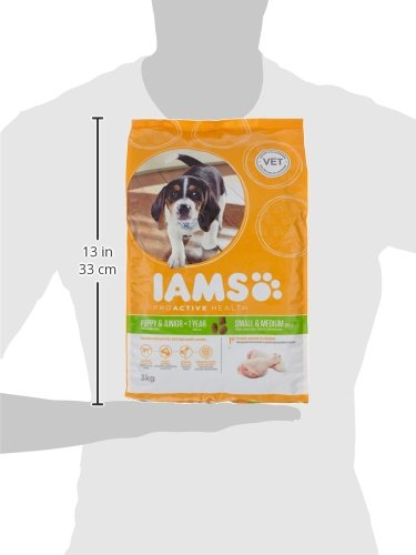 IAMS for Vitality Small/Medium Breed Puppy Dry Dog Food with Fresh Chicken, 3 kg 6