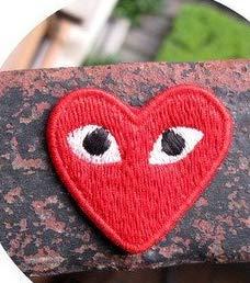 Zdan.uu 1 stücke Nette Große Rote Liebe Herz Augen Styling Tuch Aufkleber Klebstoff Patch -