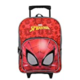 Bagtrotter Sac A Dos A roulettes 1 Ccompartiment Marvel Spiderman Rouge
