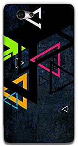 The Racoon Grip Triangles hard plastic printed back case / cover for Sony Xperia M2