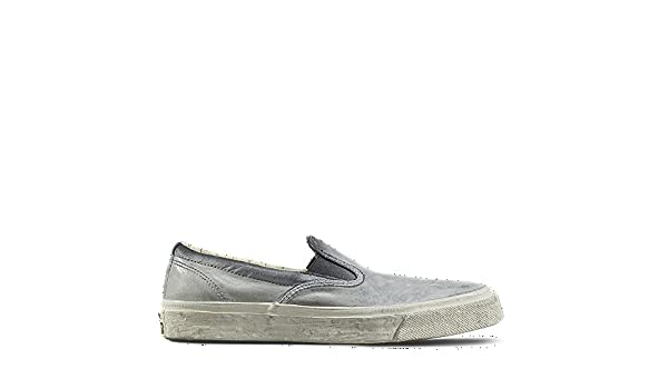1f16252445ef Converse X John Varvatos Deck Star  67 Faded Black Turtle Leather Slip Ons  (10 Mens 12 Womens)  Amazon.co.uk  Shoes   Bags