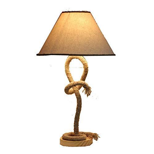 Hanfseil Natur Design Tau-Lampe Schöne Seil Tischleuchte handgefertigt Creative Lampe Studie Pers nlichkeit Nachttisch Lampe Schlafzimmer Wohnzimmer europ ischen Stil Tischlampe dekoriert E27
