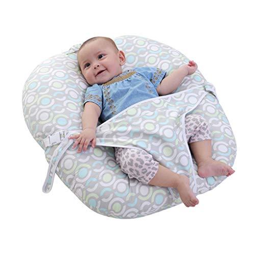 WYJHNL Tumbona para Recién Nacido Cojin Bebe & Almohada Dormir con Sistema de Seguridad, Algodón de Calidad, Lavable, Cojin Dormir Portátil para Bebés Niños Niñas 1-12 Meses, 62x60x14cm