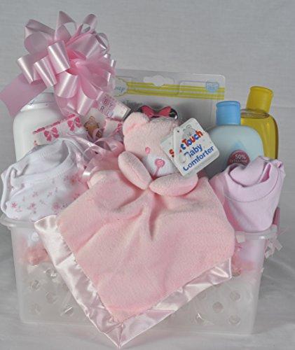 Panier de cadeau de naissance bébé fille