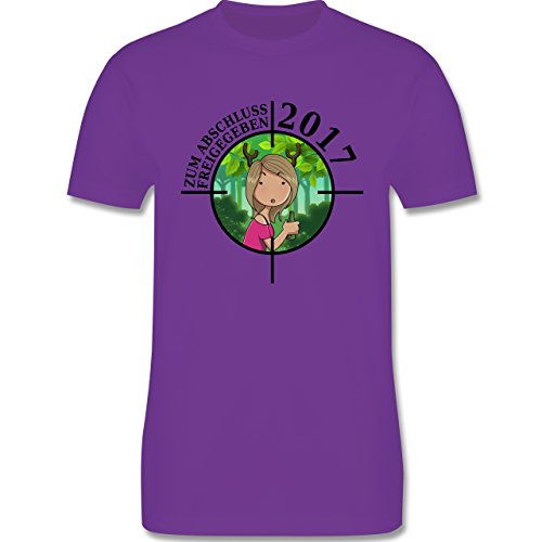 Abi & Abschluss - Zum Abschluss freigegeben 2017 - Mädchen - Herren Premium T-Shirt Lila