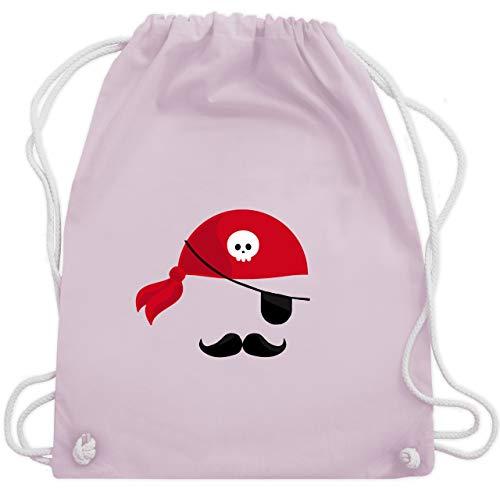 (Karneval & Fasching - Pirat Kostüm - Unisize - Pastell Rosa - WM110 - Turnbeutel & Gym Bag)