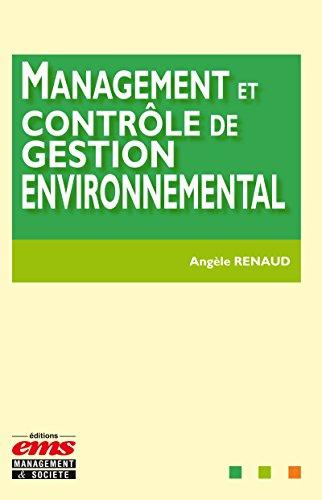 Management et contrôle de gestion environnemental par Angèle Renaud