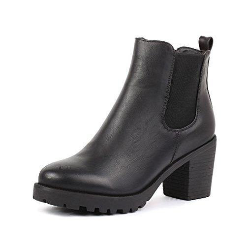 best-boots , chaussures compensées femme Noir - Noir