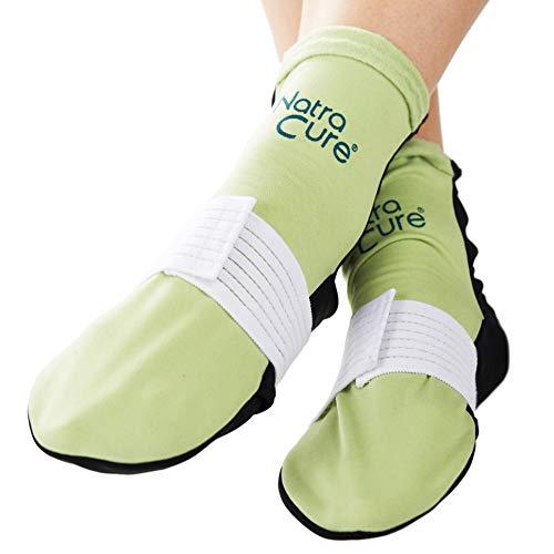 NatraCure Wärmetherapie & Kältetherapie Socken - Größe - kalt warm Kompressen - Wärmekompresse & Kältekompresse - Entspannung & Schmerzlinderung bei Fuß Schmerzen & Fersenschmerzen