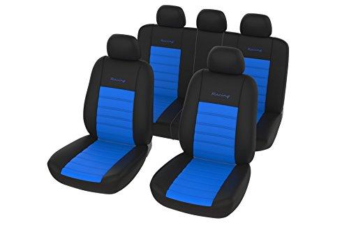 Preisvergleich Produktbild Auto Universal Sitzbezug Set in Blau / Sitzbezüge / Sitzschoner / Schonbezüge