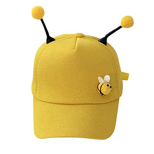 Baseball Cap Kinder Mädchen Jungs ♥ Loveso♥ Mode Sommer Hat Kappen Verstellbar Fashion Biene Design Baseball Mütze Sun Caps Sport Mütze Schirmmütze