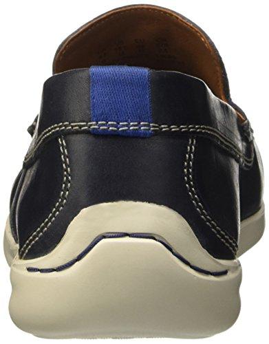 Clarks Herren Karlock Lane Flache Hausschuhe Blau (Navy Leather)