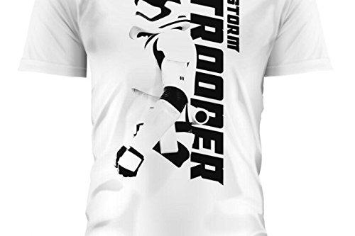 SD toys - T-Shirt - Star Wars Episode 7- Homme Stormtrooper Sideways Blanc Taille M - 8436546898665