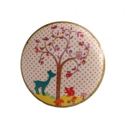 Möbelknopf Baum Knauf Reh Porzellan (Porzellan-reh)