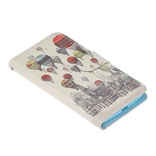Moto G5 Hülle, Moto G5 Tasche,COWX Handyhülle PU Leder Lederhülle Tasche Leder Case Cover Hülle für Lenovo Motorola Moto G5 Schutzhülle Ledercase Tasche Hüllen Brieftasche PU Lederhülle Flip Hülle Cover Wallet Brieftasche Taschen Schalen Handy Tasche im Bookstyle mit Standfunktion Karten Slot und Magnetverschluß Flip Case Hülle - 4
