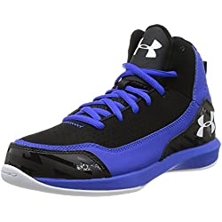 Under Armour Bgs Jet 3 - Zapatillas de baloncesto de material sintético para niño azul Bleu (Royal/Black/White) 37.5