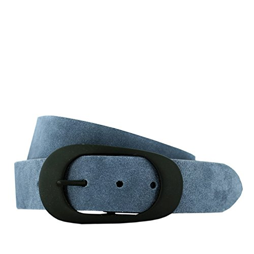 HÜFTGOLD Unisex Ledergürtel 'Aigner' , Farbe:Grau;Größe:85cm