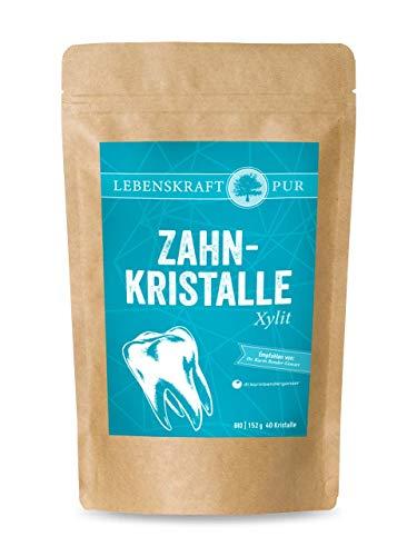 Zahnkristalle Xylit | 40 Birkenzucker Xylit Bonbons | vegan, gluten- und laktosefrei | 100% Xylitol Birkenzucker | aus DEUTSCHLAND