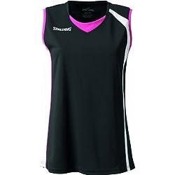 Spalding 4her - Camiseta de baloncesto para mujer, color azul negro Noir/Blanc/Rose Talla:XXXL