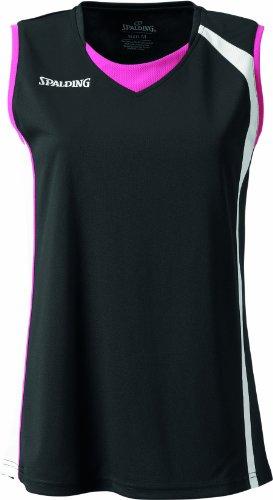 Spalding Damen 4her Tank Top, schwarz/weiß/pink, XXXL, 301244406