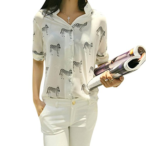 laozan-women-chiffon-lapel-v-neck-blouse-plaid-button-down-tops-color-2-small