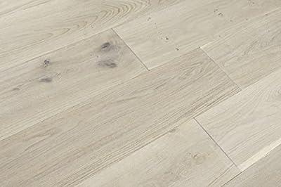 Parkett Europ. Eiche 14 x 180 x 1800 mm, Click-Verbindung, weiß supermatt lackiert, gebürstet, Country von Woodstore Handelsgesellschaft bei TapetenShop