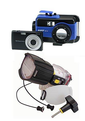 RIFF SET RC16 Unterwasserkamera mit UWB2 Unterwasserblitz