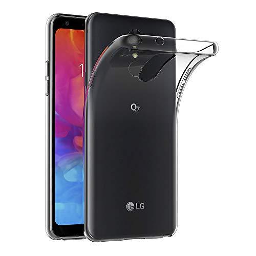 AICEK Hülle Compatible für LG Q7 Transparent Silikon Schutzhülle für LG Q7 Case Clear Durchsichtige TPU Bumper LG Q7 Handyhülle (5,5 Zoll)