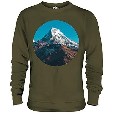 CandyMix Himalaya Montagna Unisex Uomo Donna Felpa - Blur Oliva