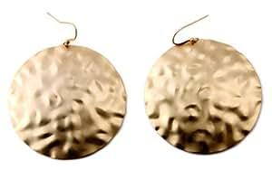 NYK Matt Gold Hammered Earrings
