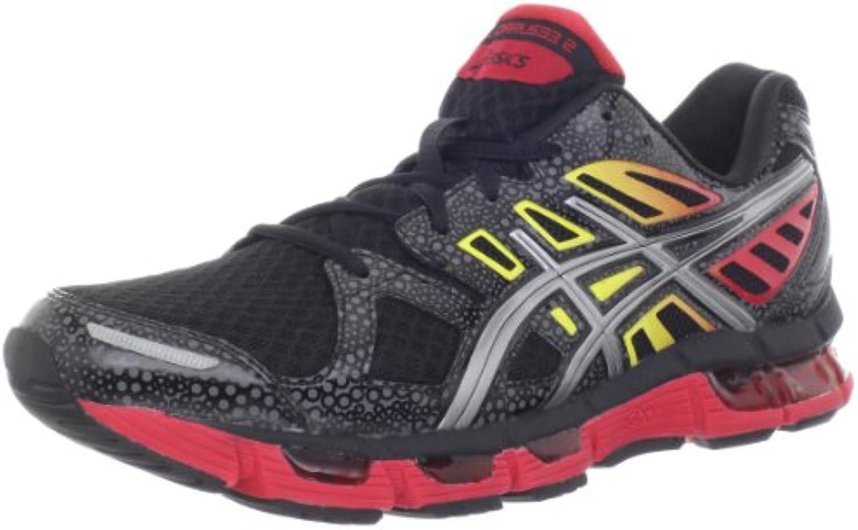Asics Gel-Cirrus33 2 Hombre Deportivas Zapatos Talla, Black/Lightning/Fire, 41.5