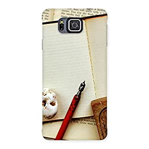Delighted Little Diary Multicolor Back Case Cover for Galaxy Alpha