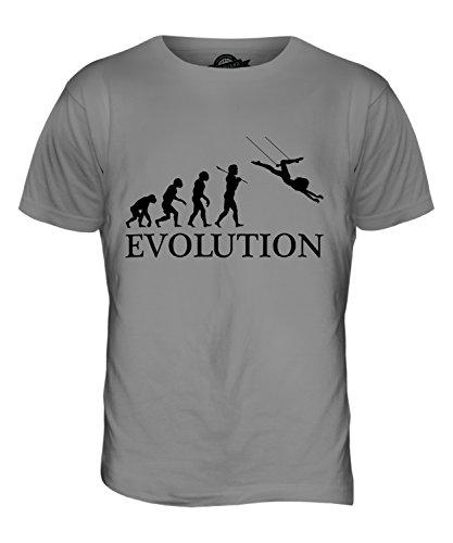 Candymix Trapez Evolution des Menschen Herren T Shirt, Größe 2X-Large, Farbe - Trapez Zirkus Kostüm