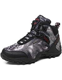 GNEDIAE Para Hombre Botas de Senderismo Impermeables de Ocio al Aire Libre Zapatos de Deporte Zapatillas de 39-46 Senderismo Cordones Trainer Botas 40-46