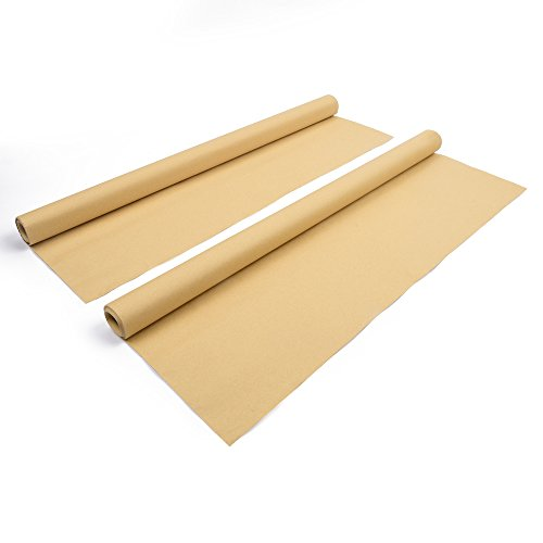 2 x Kraftpapier Rolle, hochwertiges Naturpapier, Vintage Geschenkpapier, 90 g/qm, 10 Meter Länge, 70 cm Breite, glatte Oberfläche
