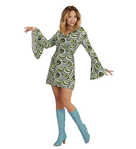 Kostüme 1970 Mode (NEU Damen-Kostüm Kleid Groovy, Waves, Gr.)