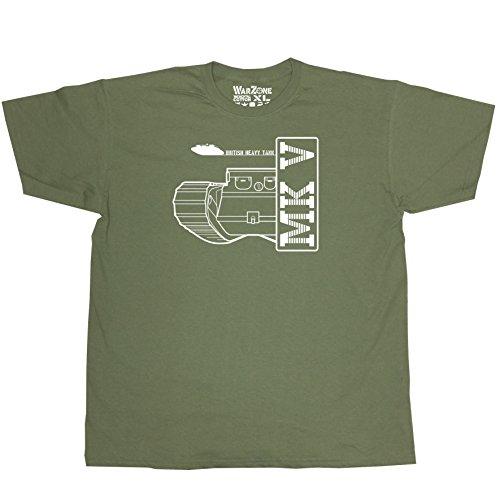 Nicram Designs -  T-shirt - Collo a U  - Uomo GREEN + White Logo