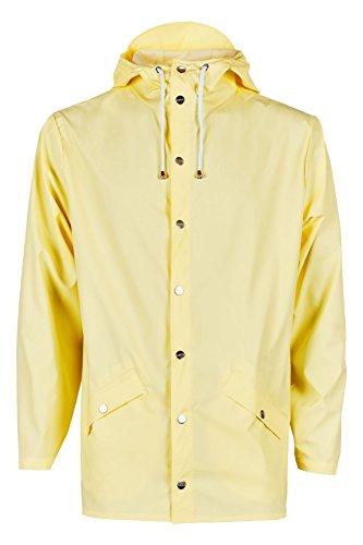 RAINS Herren Regenmantel Jacket, Gelb - Yellow (Wax Yellow), XXS/XS