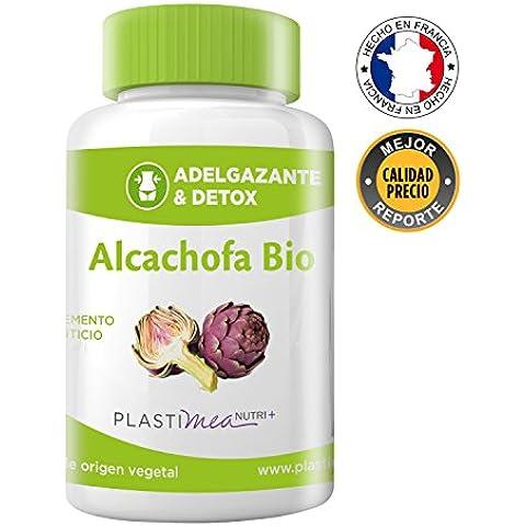 ALCACHOFA BIO* 90 Capsulas * 100% Natural - Poderoso detoxificante de cuerpo e hígado* Certificado ECOCERT HACCP +* Fabricado en Francia* ADELGAZANTE* cápsulas de origen vegetal.