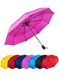 Paraguas Plegables Automático Antiviento Paraguas Originales de Colores Mujer Hombre Ligero Resistente y Compacto. Tela Reforzada Doble Capa T210 Teflon Garantía Calidad