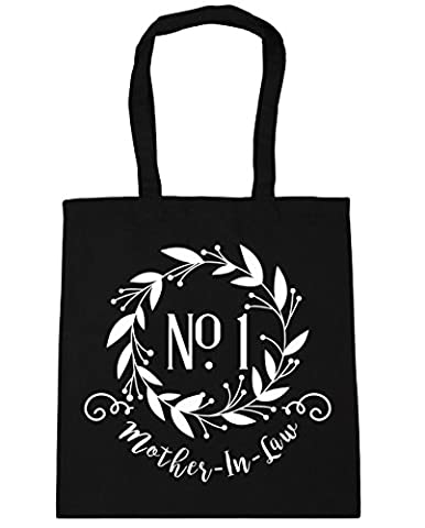 HippoWarehouse Number One Mother-In-Law Floral Reef Tote Shopping Gym Beach Bag 42cm x38cm, 10 litres