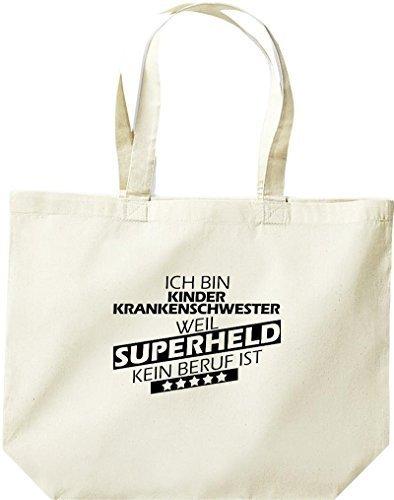 grande borsa della spesa, SONO kinderkrankenschwester, WEIL supereroe NESSUN lavoro è Naturale