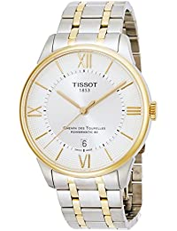 Tissot Men's 'Chemin Des Tourelles' Swiss Automatic Stainless Steel Casual Watch, Color:Two Tone (Model: T0994072203800)