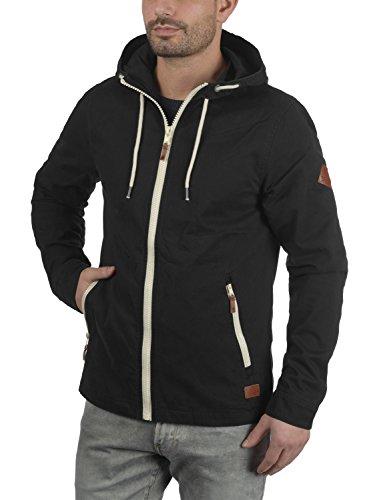 ... BLEND Bobby Herren Übergangsjacke Stoff-Jacke mit Kapuze aus 100% Baumwolle  Black (70155 ...