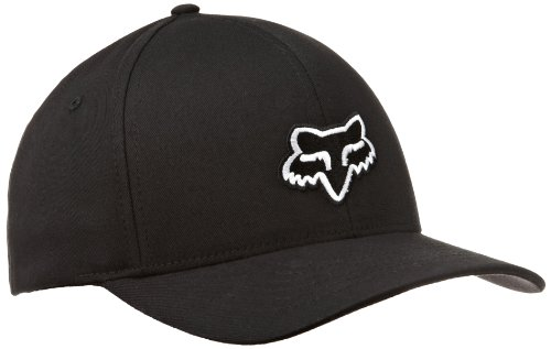 Fox Legacy Flexfit Men's Cap Black Black Size:L/XL - Fox-stitch